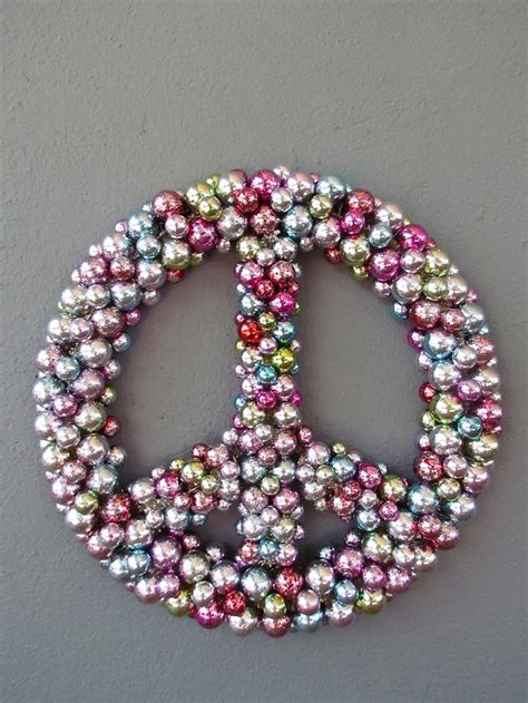 lighted peace sign wreath 17 best images about wonderful wreaths on pinterest