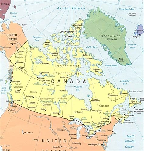 map of the canada maps of canada