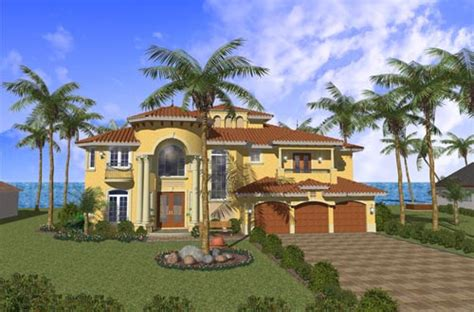 2 Story Mediterranean House Plans by Mediterranean Style House Plans 5016 Square Foot Home