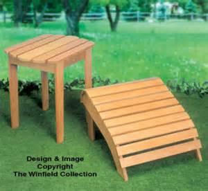 Adirondack Ottoman Plans All Yard Garden Projects Adirondack Table Ottoman Wood Plan
