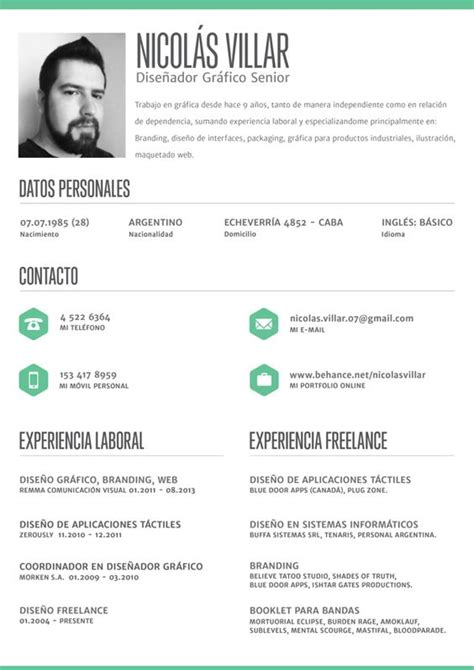 Great Cv Templates by Clean Crisp Resume Layout By Nicol 225 S Villar Via Behance
