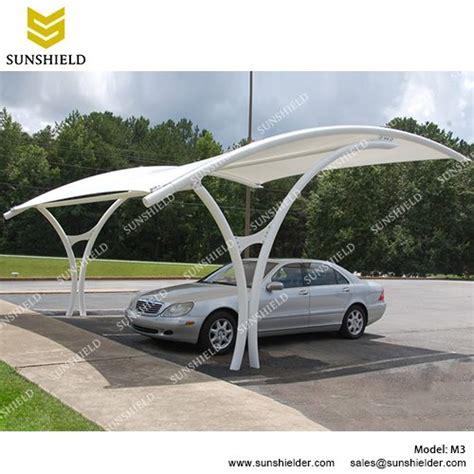 Outdoor Patio Fabric Car Shades With Pvdf Fabric Carport Canopy Sunshield