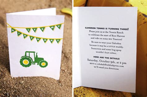 free printable john deere thank you cards tractoramaus tractor birthday invitations tractor party