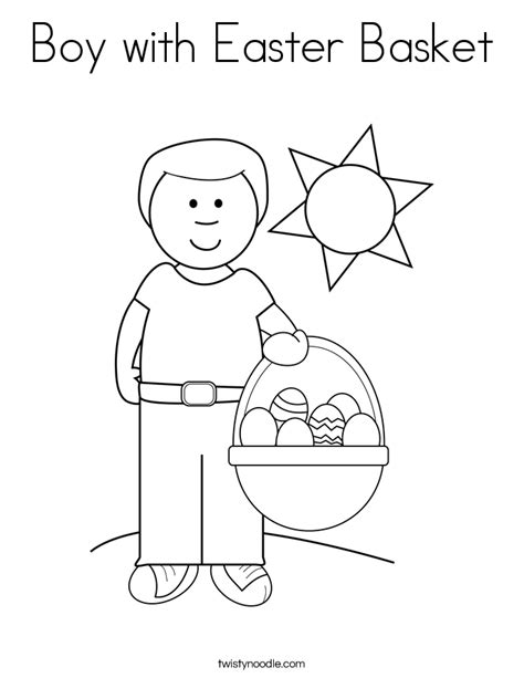 boy easter egg coloring pages boy with easter basket coloring page twisty noodle