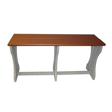 Plastic Bar Table Shop Confer Plastics Patio Essentials 24 In W X 74 In L Rectangle Plastic Bar Table At Lowes