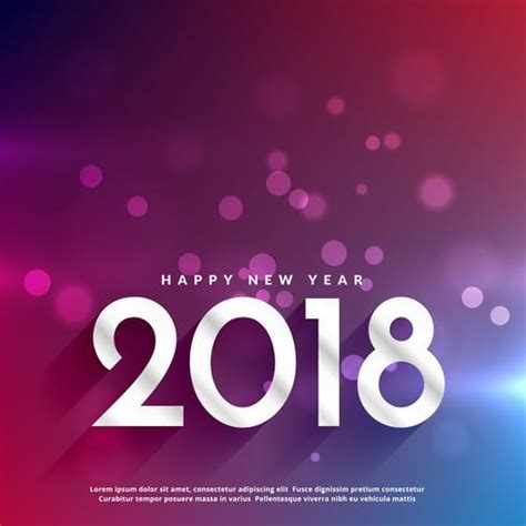 colorful happy new year 2018 2018 happy new year bokeh colorful background