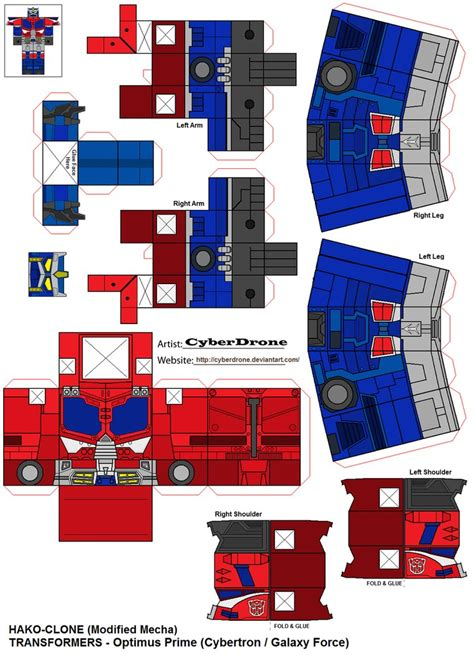 Papercraft Transformers Optimus Prime - hako clone optimus prime cybertron by cyberdrone on