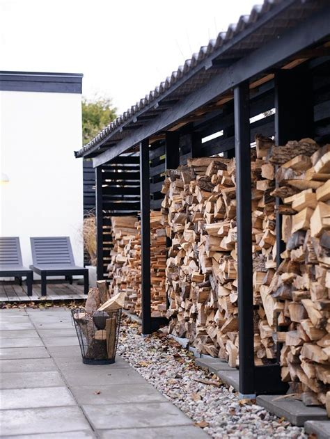 outdoor storage  side  house fire wood storage