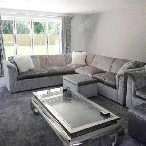 luxury crushed velvet sofas luxury velvet corner sofas catosfera net