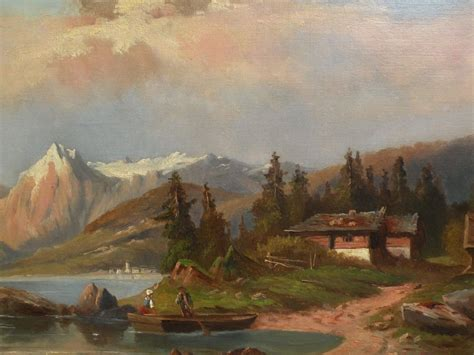 european painting 19th century european painting german or austrian mountain lake from jbfinearts on ruby
