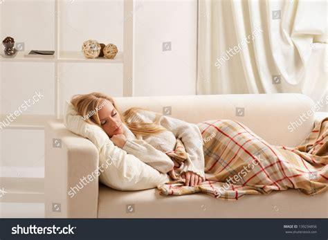 girl on the sofa beauty girl sleeping on sofa stock photo 139234856