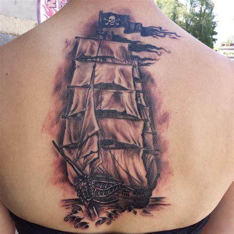 tattoo back ship 24 jolly roger ship tattoos