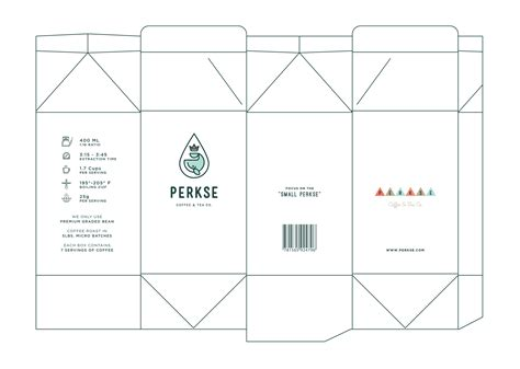 Dribbble Perkse Coffee Box Template Png By Salih K 252 231 252 Kağa Coffee Bag Template Illustrator