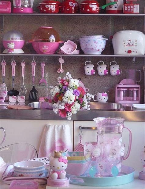 cute kitchen themes ideas cute kitchen sets with hello kitty themes