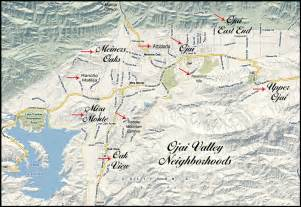 map ojai california ojai valley neighborhood map