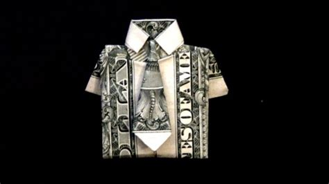 Dollar Bill Origami Shirt And Tie - how to fold a dollar bill into a dollar origami shirt and