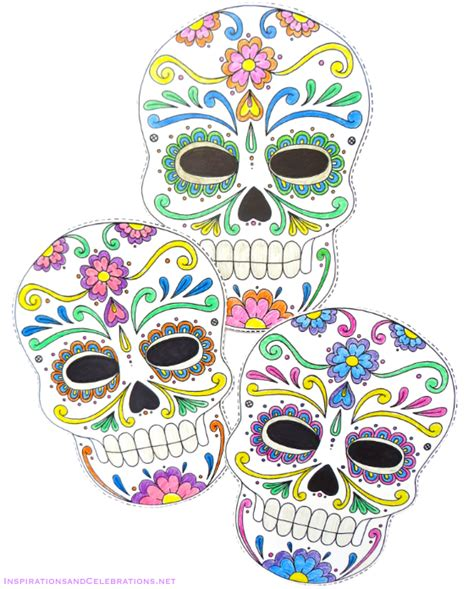 printable masks for day of the dead day of the dead party easy entertaining ideas