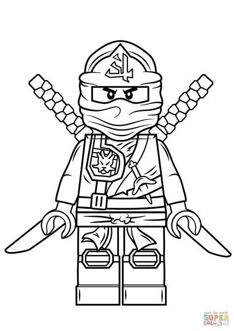ninjago coloring pages lego ninjago green coloring page free printable