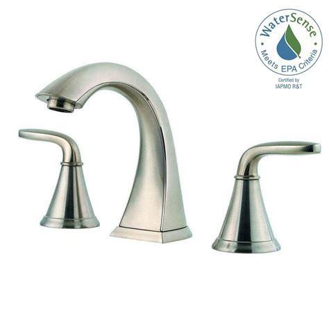 pfister bathroom sink faucets pfister pasadena 8 in widespread 2 handle bathroom faucet