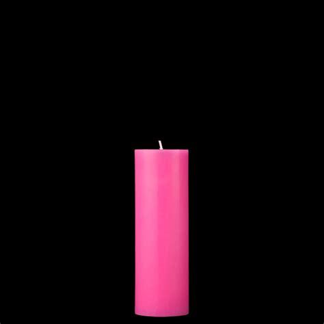 Pink Candles 2x6 Pink Pillar Candle