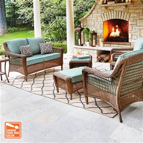 wicker look patio furniture patio furniture for your outdoor space the home depot