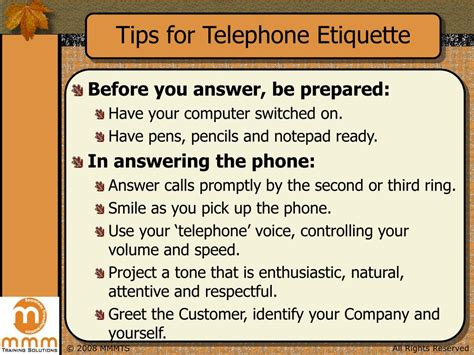 PPT   Telephone Etiquette Tips PowerPoint Presentation