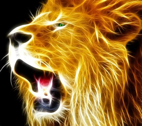 neon lion wallpapers   cell phone