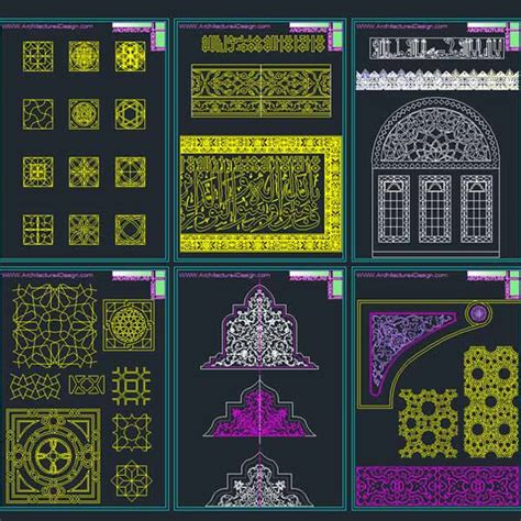 Pattern Islamic Autocad | autocad collection of islamic decoration pieces