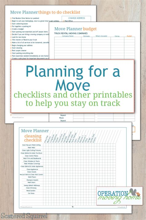 move planner printables    stay  track