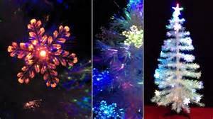 4ft fibre optic white christmas tree with led colour