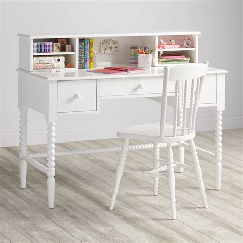 white kid desk lind furniture collection the land of nod
