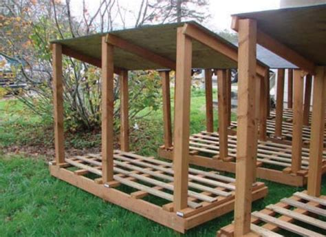 wood shed plans   firewood dry