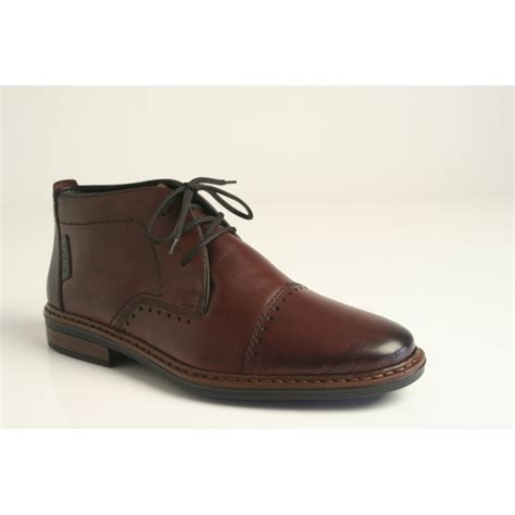 rieker rieker s brown leather lace up boot rieker