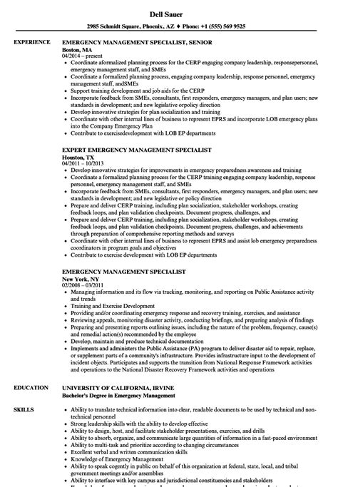 Emergency Management Consultant Sle Resume by Emergency Management Consultant Sle Resume Rescue Worker Cover Letter Bill Of Lading Form Free