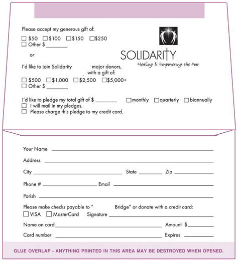 non profit donation card template 5 donation envelope templates free printable word psd