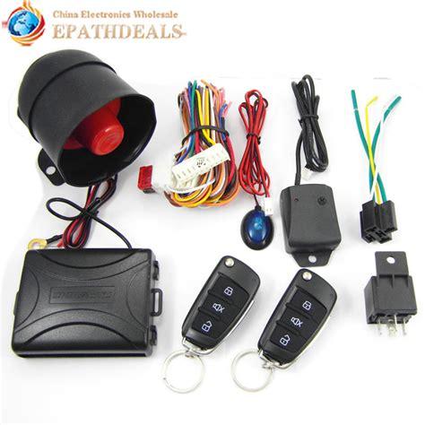 Alarm Auto ca703 8118 one way auto car alarm systems central door locking security key with remote