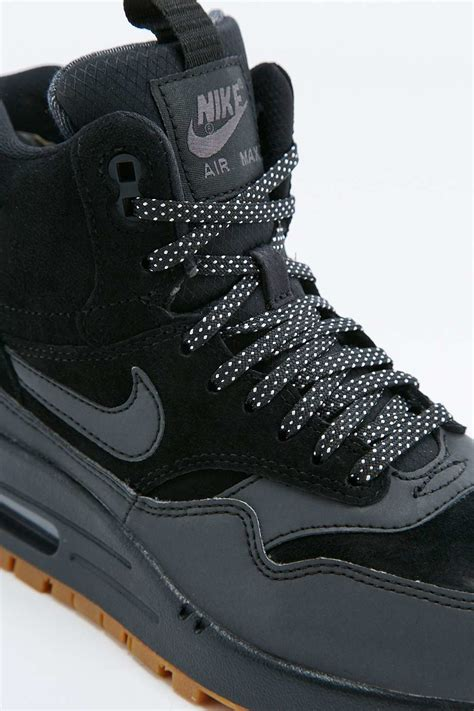 nike air max 1 black trainer boots in black for lyst