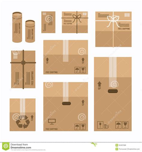 layout packaging vector paper boxes set product package mockup design stock