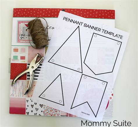 diy paper pennant banner w free template suite