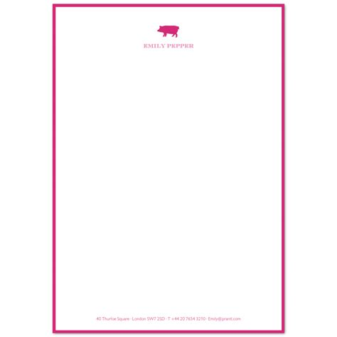 a5 writing paper illustrated a5 writing paper with footer border prantl