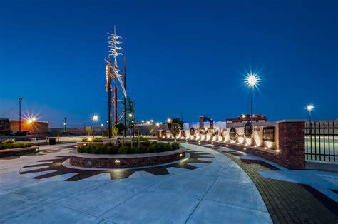 wichita kansas lk architecture coleman parking lot rotary plaza