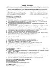 Retail Management Resume Sle by Resume In Retail Management Sales Retail Lewesmr