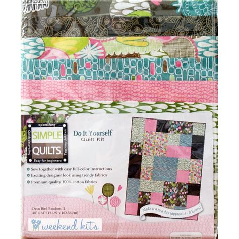 Beginners Quilting Kit by Deco Bird Quilt Kit For Beginners Simple Quilts At