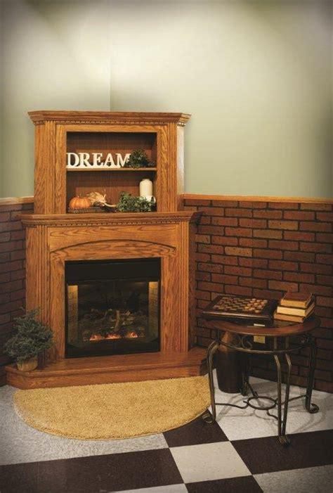 amish statehouse corner mantel amish fireplaces 45050