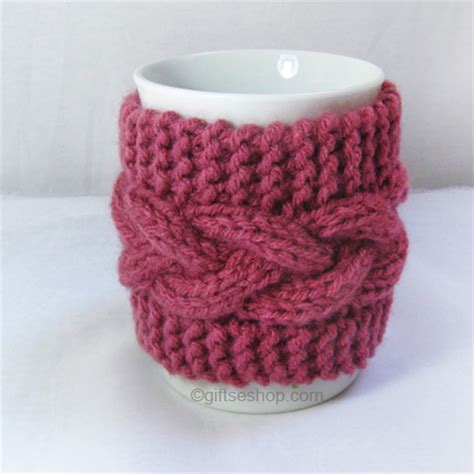 mug knitted warmer cofee cup cozy cable knit wrap mug warmer gifts shop