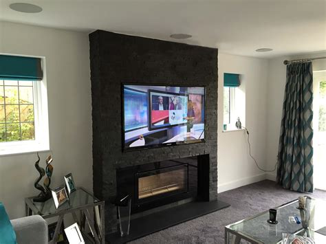 build a living room audio visual installation hertfordshire new build house