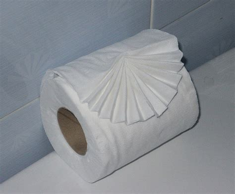 Fold Toilet Paper - toilet paper hanging or the roll