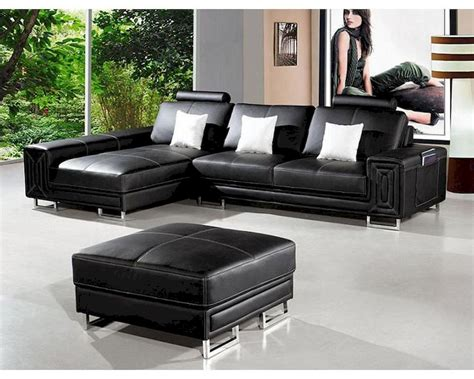 modern style sectional sofa modern style black leather sectional sofa 44li957