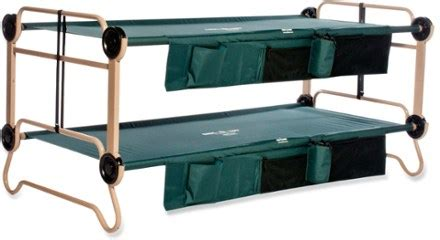 disco bed disc o bed cam o bunk cots with organizers x large at rei