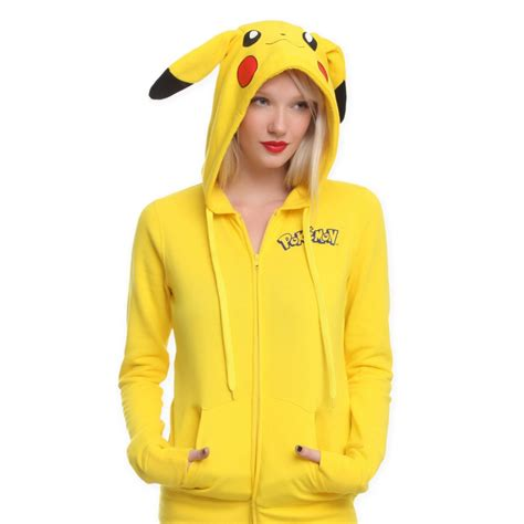 Pikachu Sweater anime animal pikachu hooded jacket